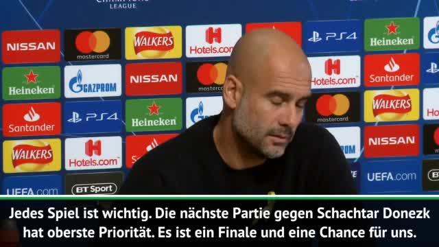 """Guardiola vor Donezk-Spiel: """"Finale für uns"""""""