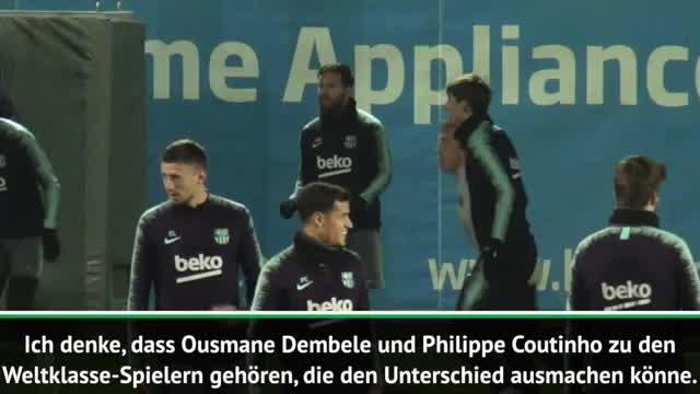 Valverde schwärmt von Dembele und Coutinho