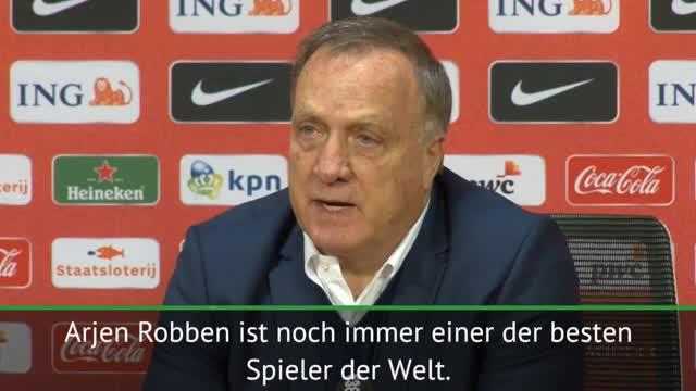 """Advocaat: Robben-Abschied """"ein herber Verlust"""""""