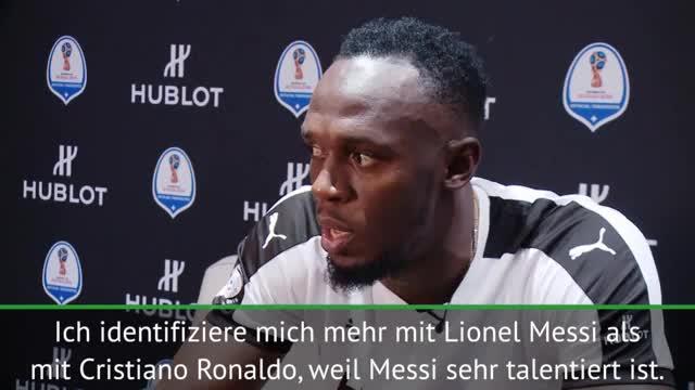 """Bolt: """"Bin mehr wie Messi als Ronaldo"""""""