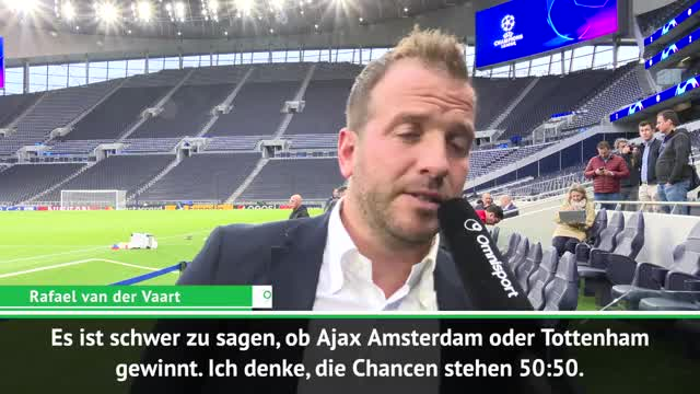 Van der Vaart: Ajax Favorit gegen Tottenham