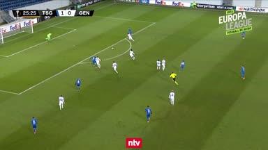 Das 2:0 der TSG Hoffenheim gegen KAA Gent