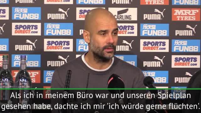 """Guardiola zu Spielplan: """"Würde gerne flüchten"""""""