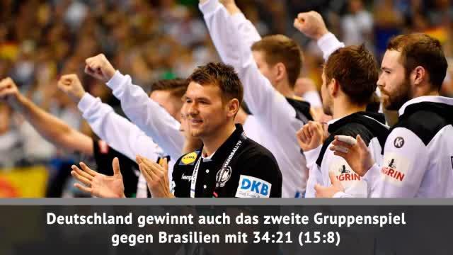 Handball-WM: DHB-Team dominant bei zweitem Sieg
