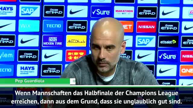 Guardiola zu CL-Hablfinals: Danke fürs Spektakel