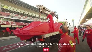 Motorschaden! Vettel auf dem Abschleppwagen