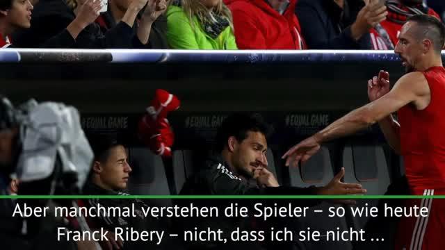 "Ancelotti: ""Verstehe Riberys Reaktion nicht"""