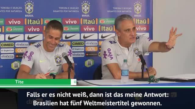 """Tite kontert Trump: """"Haben fünf WM-Titel"""""""