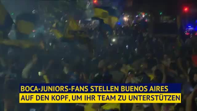 Copa Libertadores: Fan-Wahnsinn bei Boca-Abreise