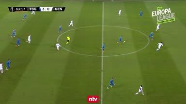 Das 4:0 der TSG Hoffenheim gegen KAA Gent
