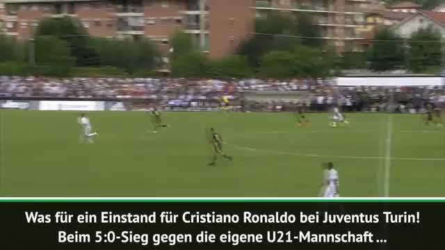 Erstes Spiel, erstes Tor! Ronaldo in Juve-Form