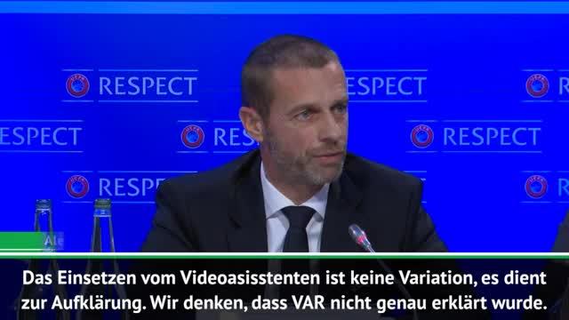 Ceferin: UEFA war unwissend über VAR-Einsatz