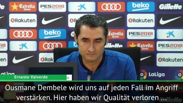 """Neymar? Valverde sieht in Dembele """"Besseres"""""""