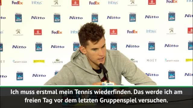 ATP-Finals: Ratloser Thiem nach Federer-Pleite