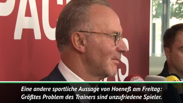 """Rummenigge: """"Bin nicht Ulis Pressesprecher"""""""