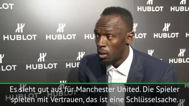 """Bolt: """"Glücklich über ManUnited und Mourinho"""""""