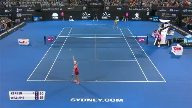 Sydney: Kampfsieg für Kerber gegen Williams