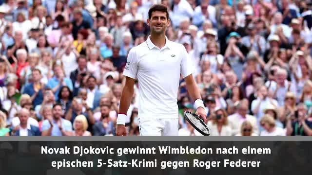Wimbledon: Djokovic holt Titel gegen Federer