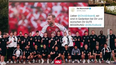 DFB-Elf sendet Genesungswünsche an Eriksen