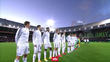 Pyro-Show bei Feyenoord vs. Union