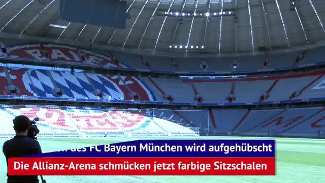 Kunstwerk Allianz Arena: Weg vom tristen Grau