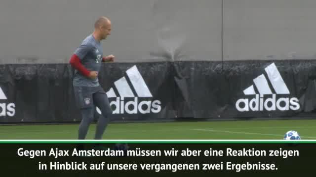 Vor Ajax: Robben will von Krise nichts wissen