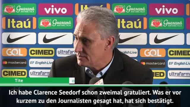 Tite gratuliert Seedorf zu Kameruns Fußball