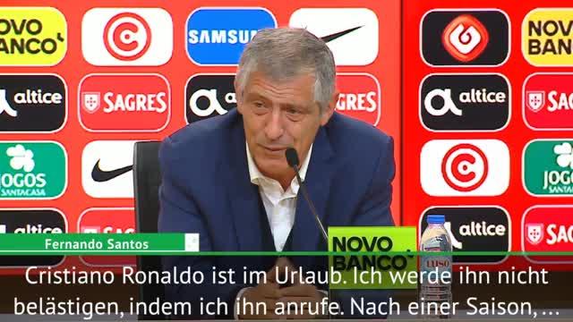 Portugal: Santos gönnt Ronaldo Urlaub