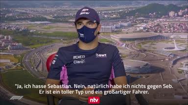 """Pérez witzelt über Vettel: """"Ja, ich hasse Sebastian"""""""