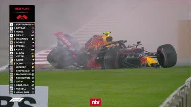 Hier rast Red-Bull-Pilot Albon in die Mauer
