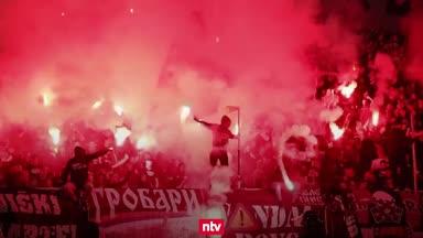 Pyro-Wahnsinn mit 20.000 Fans in Belgrad