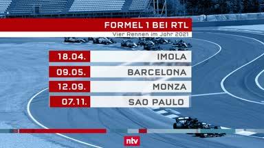 Vier Rennen live im Free-TV: Formel 1 bleibt bei RTL