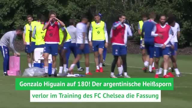 Vor Finale: Higuain auf 180 im Blues-Training