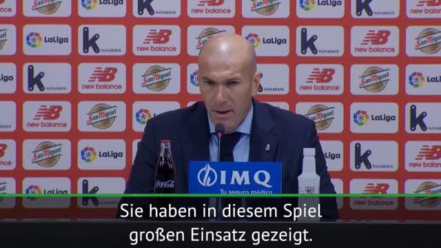 """Zidane nach Remis: """"Sind natürlich enttäuscht"""""""