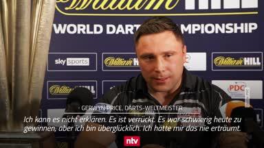 """Darts-Weltmeister Price: """"Ich habe den Pokal verdient!"""""""