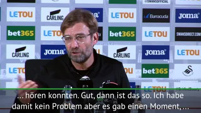 "Klopp sagt ""sorry"" nach Disput mit Swansea-Fan"