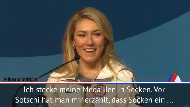 Olympia: Shiffrin erklärt Medaillen-Versteck