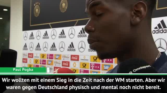 """Pogba nach DFB-Spiel: """"Waren nicht bereit"""""""