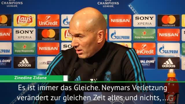 Zidane und Ramos: Neymar-Aus wird nichts ändern
