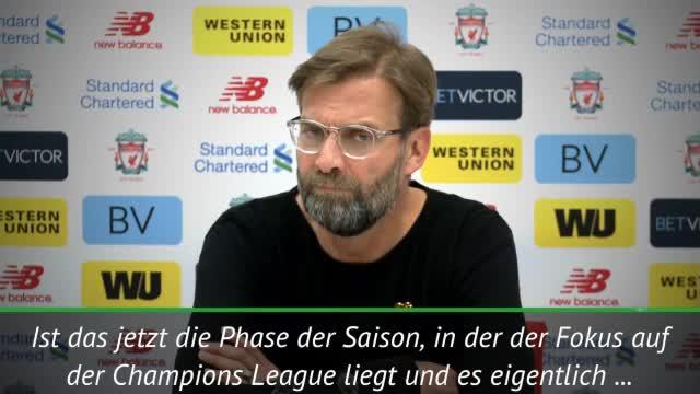 Jürgen Klopp freut sich auf CL-Gegner Rom