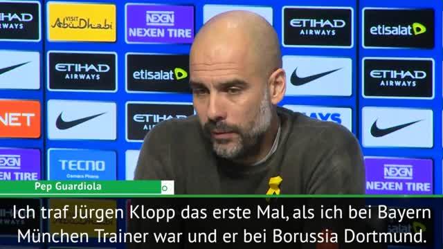 """Guardiola: """"Klopp ist ein mutiger Trainer"""""""