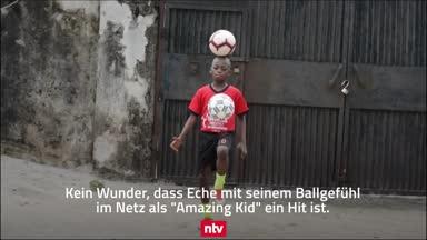 Elfjähriger begeistert mit Rekord im Ballhochhalten