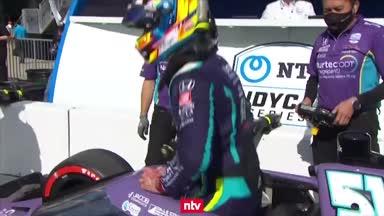 Nach Horror-Crash: Grosjean holt erste Pole im Indycar