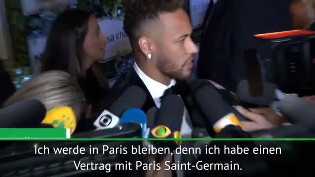 """Neymar: """"Ich bleibe bei Paris Saint-Germain"""""""