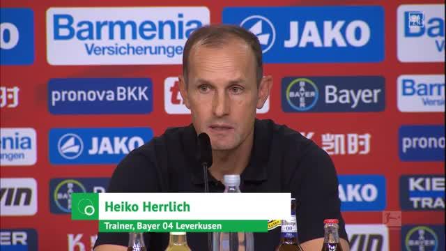 Unmotiviert? Werkself-Trainer Herrlich wehrt ab