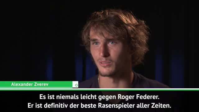 """Zverev: """"Liebe Matches gegen Federer"""""""