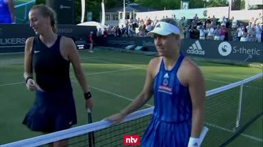 Hier entzaubert Kerber Kvitova