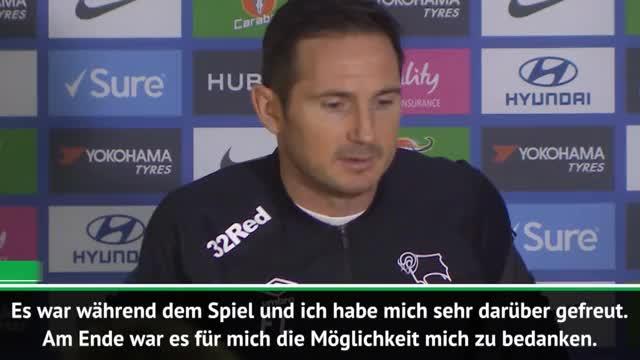 Lampard gerührt von Empfang der Chelsea-Fans