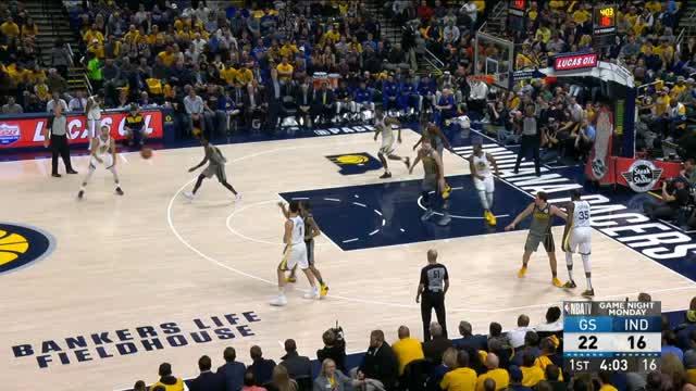 Chef Curry zerlegt Pacers in einer Halbzeit