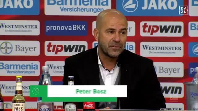 """Bosz: """"Leverkusen klar die bessere Mannschaft"""""""